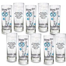 Stag Do Shot Glasses Pack of 10